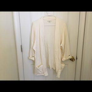 Ivory Open Cardigan